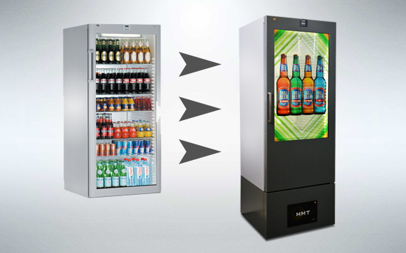 Transparent LCD Bottle Cooler