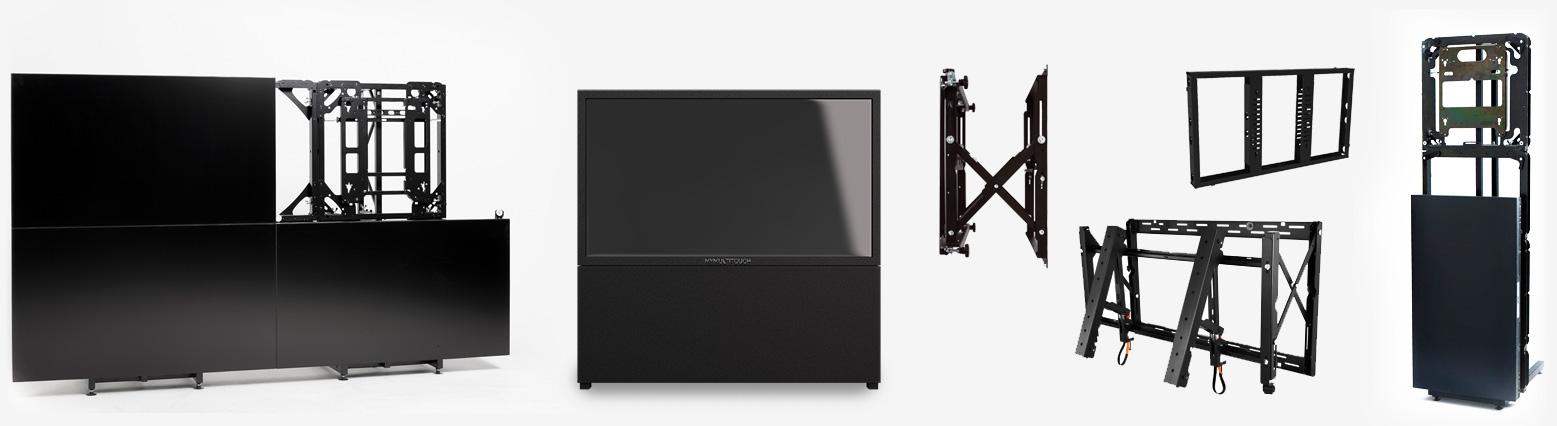 multitouch lcd videowand riesig und interaktiv f r mehrere personen. Black Bedroom Furniture Sets. Home Design Ideas